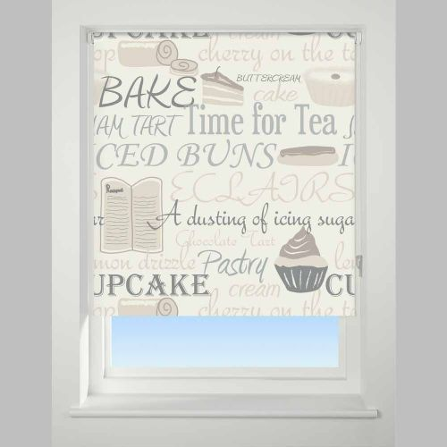 Universal Daylight Patterned Roller Blind - Bake Off Neutral